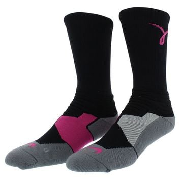 Nike Mens Hyper Elite Basketball Kay Yow Crew Socks Bright Pink