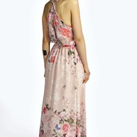 Imogen Chiffon Border Print Maxi Dress
