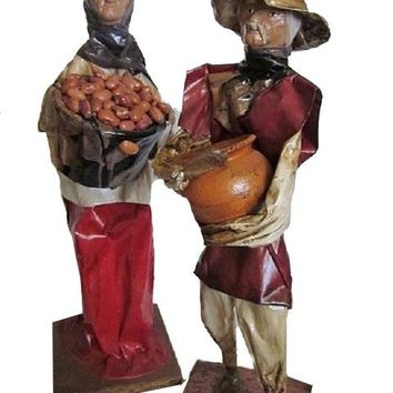 Paper Mache Mexican Folk Art, Vintage Couple