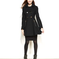 Laundry by Shelli Segal Double-Breasted Flared-Skirt Coat