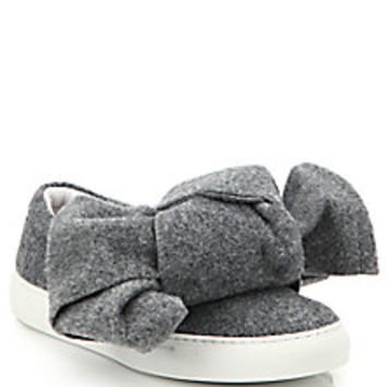Joshua Sanders - Felt Bow Slip-On Sneakers - Saks Fifth Avenue Mobile