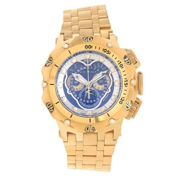 Invicta 16805 Men's Venom Reserve Chronograph Blue Dial Yellow Gold Steel Swiss Dive Watch