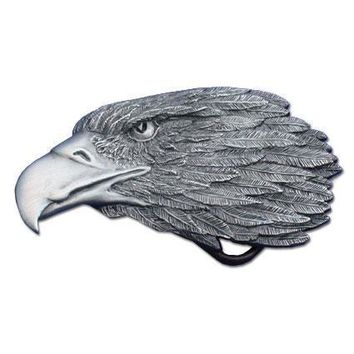 Sports Accessories - Eagle Profile Antiqued Belt Buckle