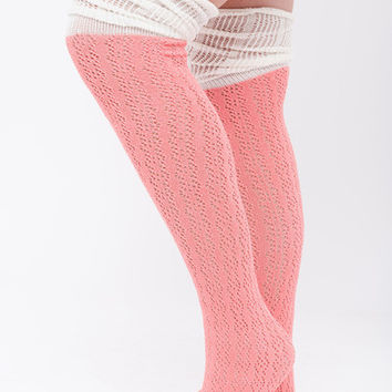 Pretty In Pink Boot Socks
