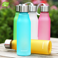 1PC Candy Color Frosted Sports Bicycle Water Bottle BPA FREE 600-700ML Unbreakable Bike Bottle Plastic Soda Bottles