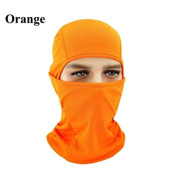 ORANGE Winter Outdoor Ski Bibs Snowboard Skiing Full Face Mask Cycling Sport Headgear Tactical Paintball Cap Hat Snowbile Balaclava