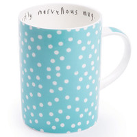 modestly marvellous mug, ls dot block old blue --- Lisa Stickley London