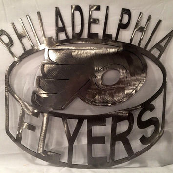 Philadelphia flyers metal art sign