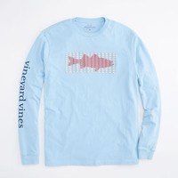 Long-Sleeve Striper Whales T-Shirt