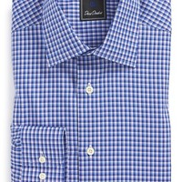 Men's David Donahue Traditional Fit Check Dress Shirt
