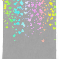 Gray With Love Beach Towel created by Christy Leigh | Print All Over Me