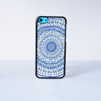 Blue Mandala  Plastic Case Cover for Apple iPhone 5C 6 Plus 6 5S 5 4 4s
