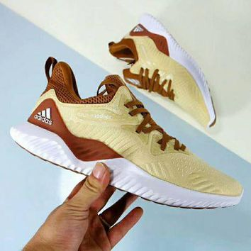 Adidas Alpha Bounce New Popular Men Personality Sport Running Shoe Sneakers Yellow