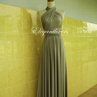Light Grey Dress Infinity Dress Wrap Dress Bridesmaid Dress Formal Dress Sexy Evening Dress Cocktail Dress Party Dress