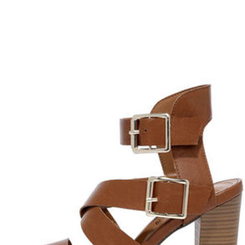 Ways and Scenes Tan Heeled Sandals