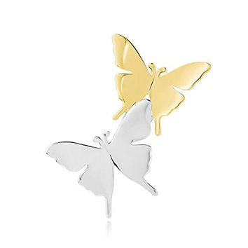 Happy Source Couple Love Double Butterfly Corsage Brooch Pin for Women Gifts Prom Wedding