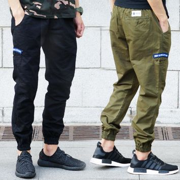 Tide brand casual overalls trousers of young people feet pants jogging sports pants