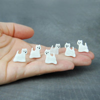 Westy Westie West Highland Terrier Pet Lovers Gift Ceramic Studs