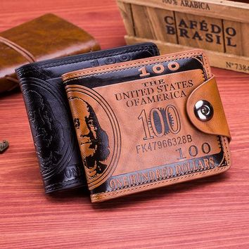 Day-First™ Mens Leather Wallet Money Clip Gift for Dad BF
