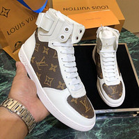 Louis Vuitton LV Trendy printed flat and casual high-top shoes-1