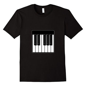 Piano Emoji T-Shirt Keyboard Music Instrument Play Keys