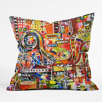 Robin Faye Gates It Came From Detroit Outdoor Throw Pillow