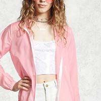 Semi-Sheer Zip-Up Jacket