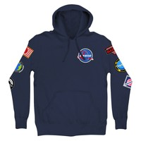 Space Patches Pullover Hoodie - Apparel