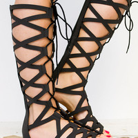 Gladiator Corset Lace Up Sandals