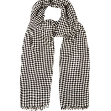 Ascah hound's-tooth wool scarf | Isabel Marant Étoile | MATCHESFASHION.COM US