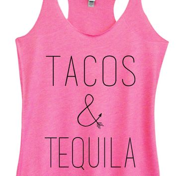 Womens Fashion Triblend Tank Top - Tacos & Tequila - Tri-903