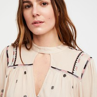 Winter Daisy Embroidered Tunic