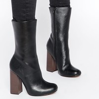 Truffle Collection | Truffle Collection Nia Calf Heeled Ankle Boots at ASOS