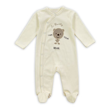Baby Fashion Newborn Baby Girl Boys Long-Sleeve Bear Printed Spring/Autumn Infant Jumpsuit Body Rompers Outfits Clothes