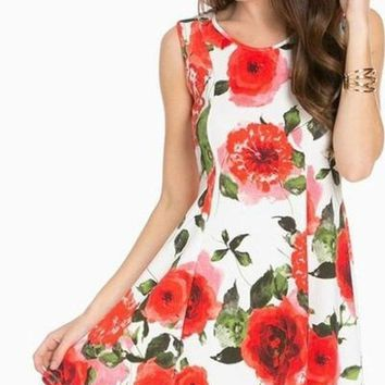 Picking Petals Skater Dress - !
