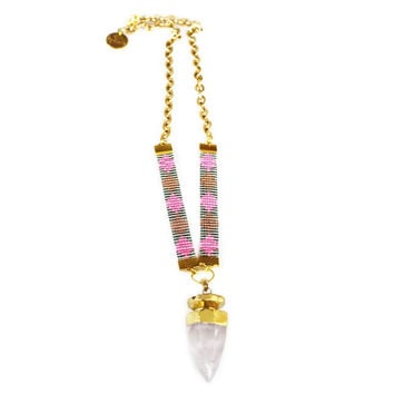 St Tropez Necklace (pink)