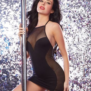 Seamless Halter Illusion Dress