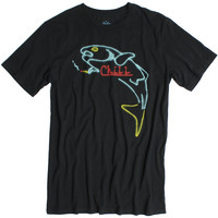 Chill Fish Tee neon sign simulation
