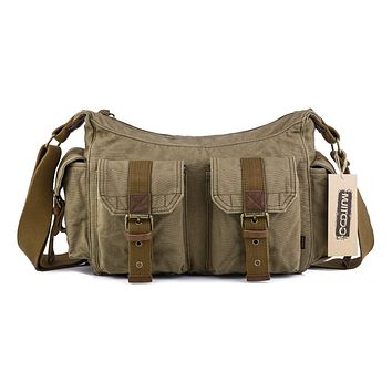 Vintage Canvas Shoulder Bag #21218