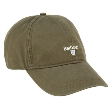Cascade Sports Cap in Olive by Barbour