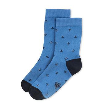 NOV9O2 Petit Bateau Girls Anchor Socks