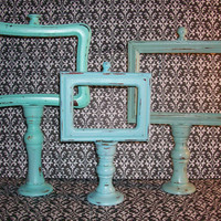 RESERVED RESERVED 4 Beach Themed Up Cycled Candle Stick Picture Frames