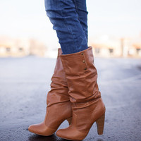 Stepping Forward Boots Camel