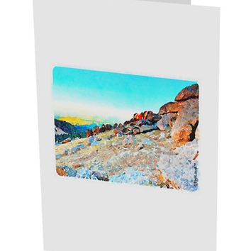 "CO Rockies View Watercolor 10 Pack of 5x7"" Side Fold Blank Greeting Cards"