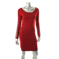 Marc New York Womens   Knit Boatneck Sweaterdress