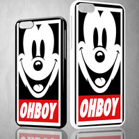 Mickey Mouse Disney Obey Ohboy X0071 iPhone 4S 5S 5C 6 6Plus, iPod 4 5, LG G2 G3, Sony Z2 Case