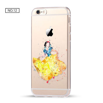 Snow White Clear Soft Disney Phone Case For iPhone 7 7Plus 6 6s Plus 5 5s SE C