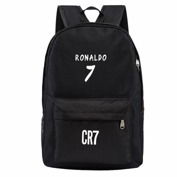 Backpack Men School Bags for Teenagers Boys Book Bag Back Pack Ronaldo Fashion Bookbags for Children Cool Traveling Schoolbags