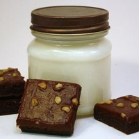 Soy Jar Candle - Chocolate Brownie Scented Container Candle  Mason Jar