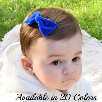 Velvet Hair Bow, Baby Hair Bows, Girls Velvet Hair Bow, Toddler Hair Bows, Hair Bows for Women, Hair Bows for Girls, Baby Bows, Hair Bows